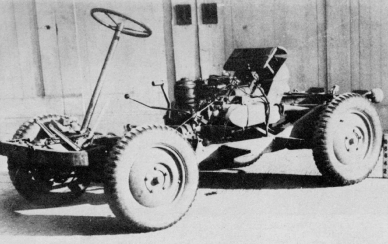 Chasis del Willy WAC - Vista frontal izquierda