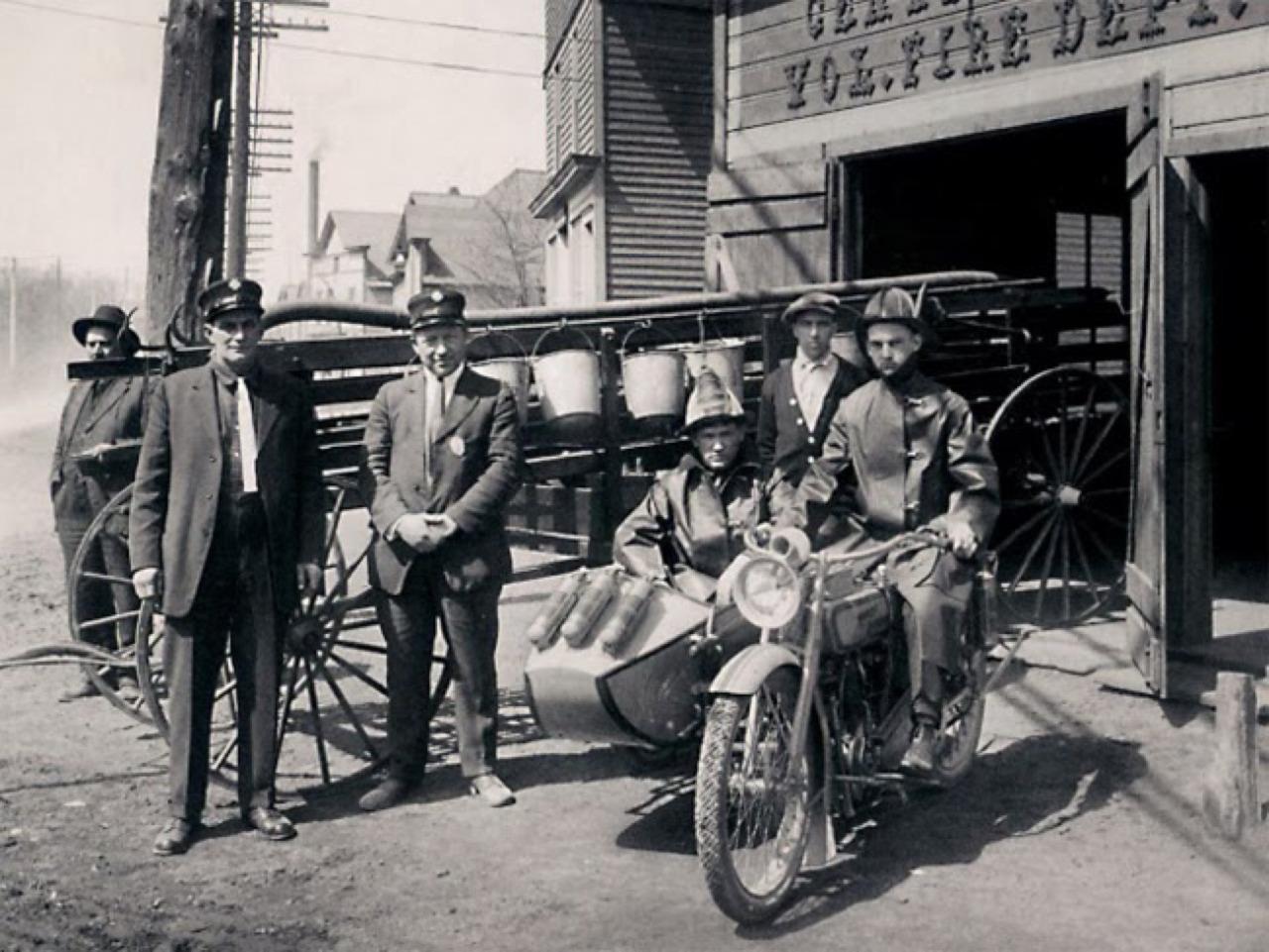 Harley-Davidson en Departamento de Bomberos - sidecar