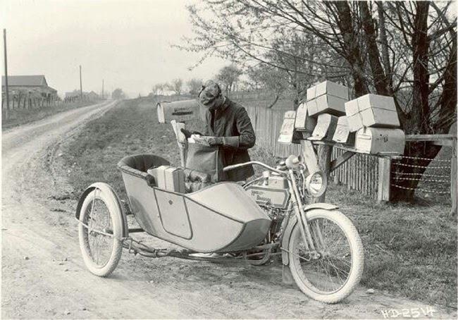 El sidecar era muy útil para llevar los paquetes
