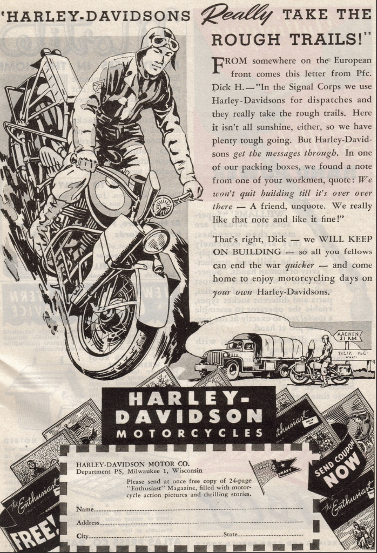 Harley-Davidson really take the rough trails