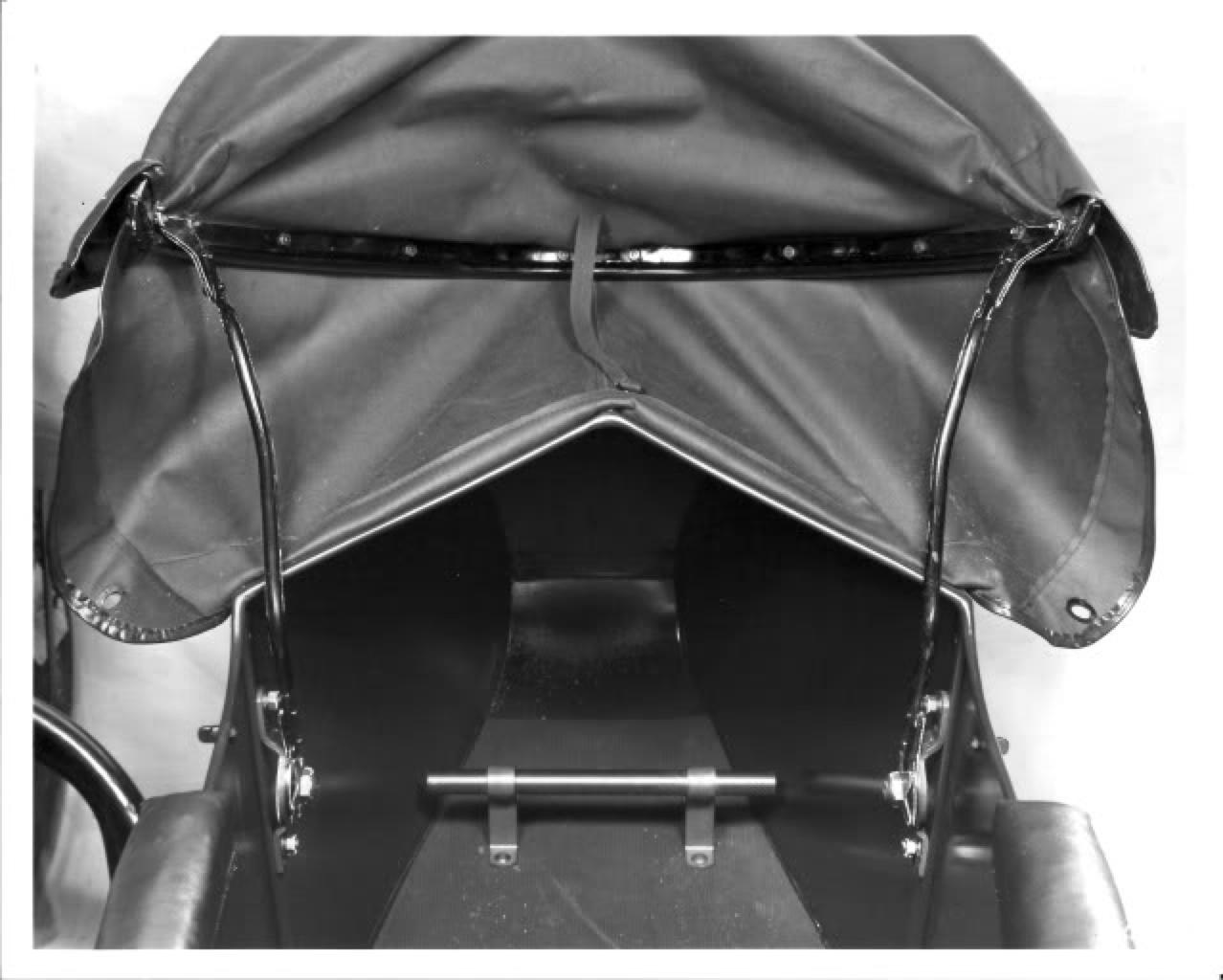 Detalle del interior del sidecar