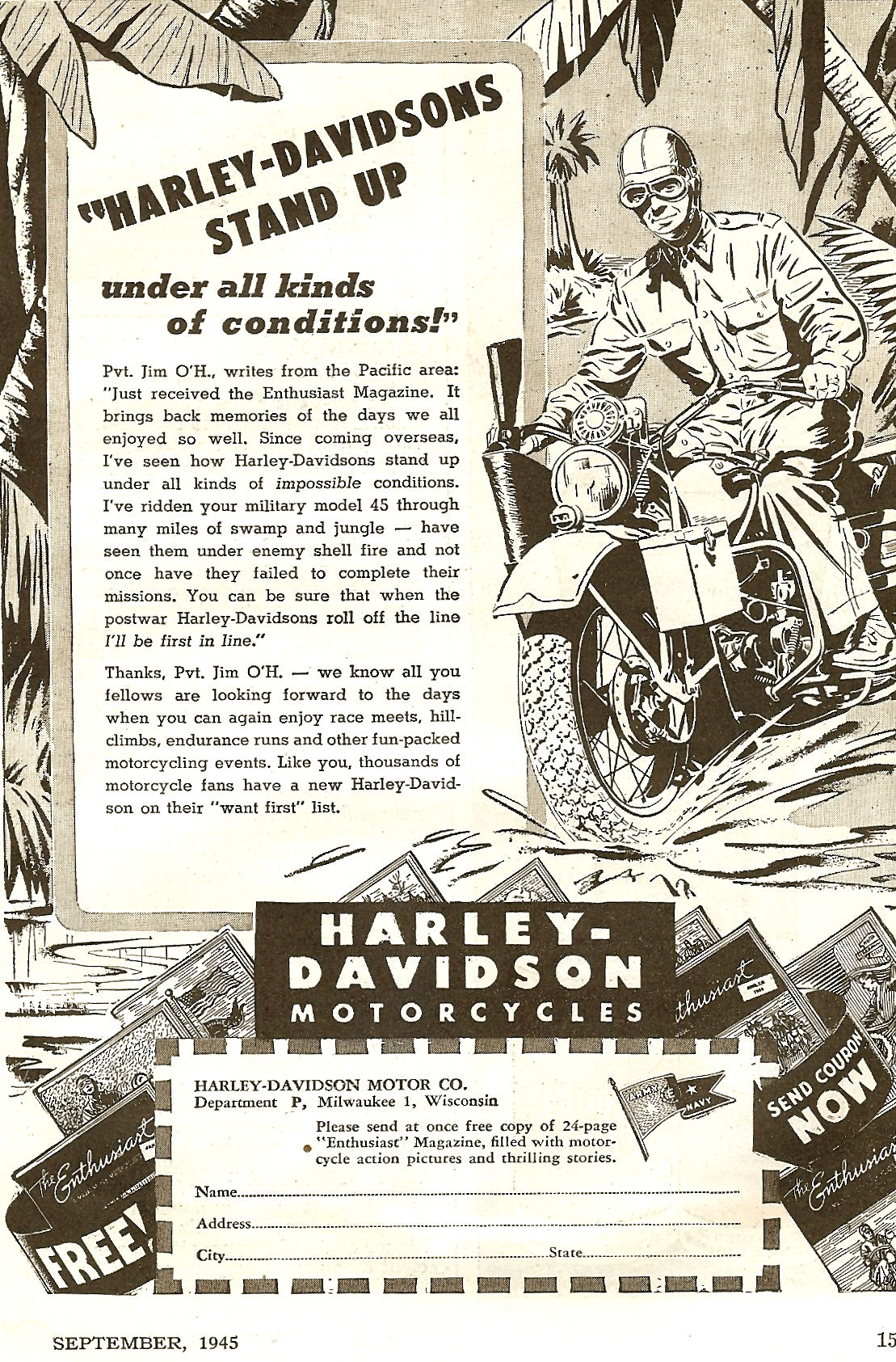 Harley-Davidson Stand Up