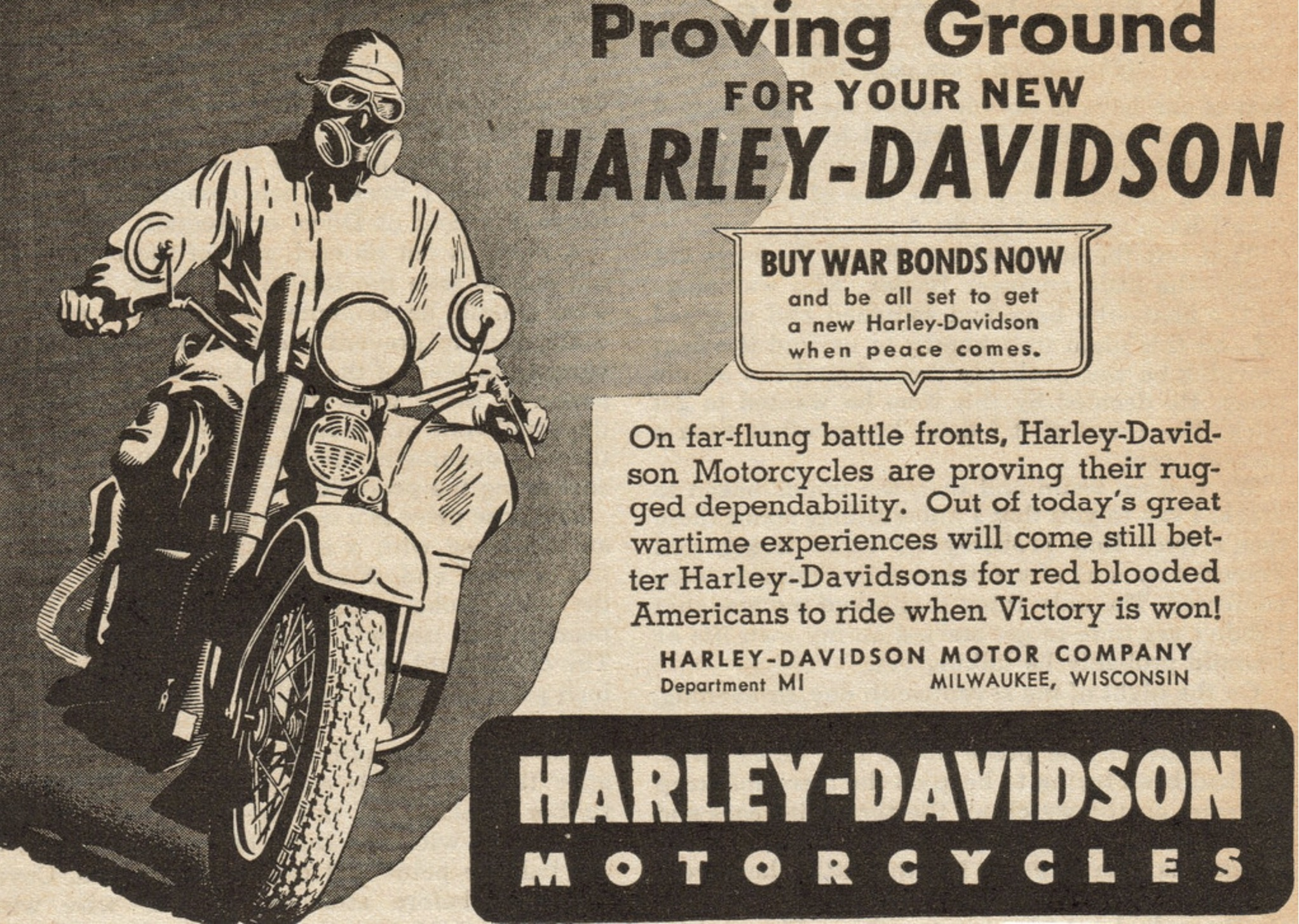 Proving ground Harley-Davidson