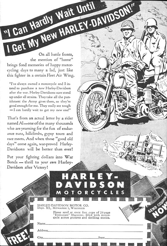 I can hardly wait until I get my new Harley-Davidson