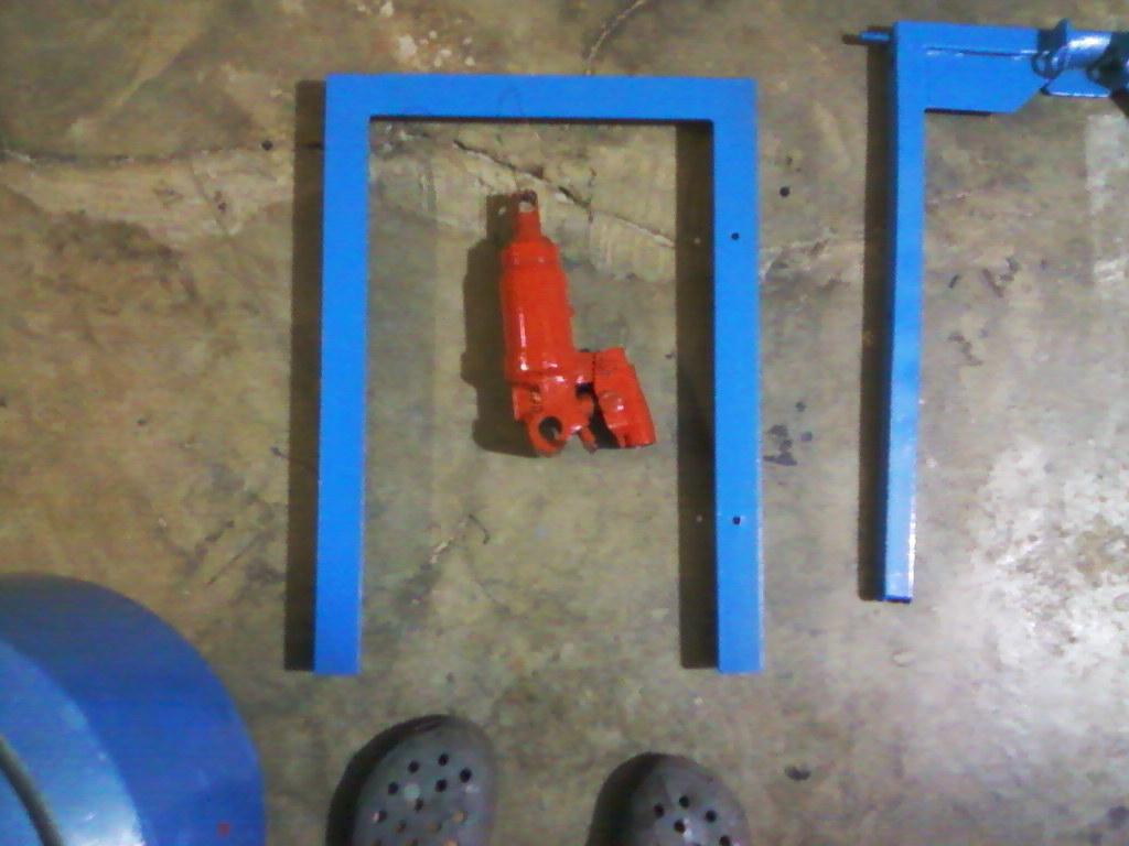 Elevador hidraúlico de tijeras para motos