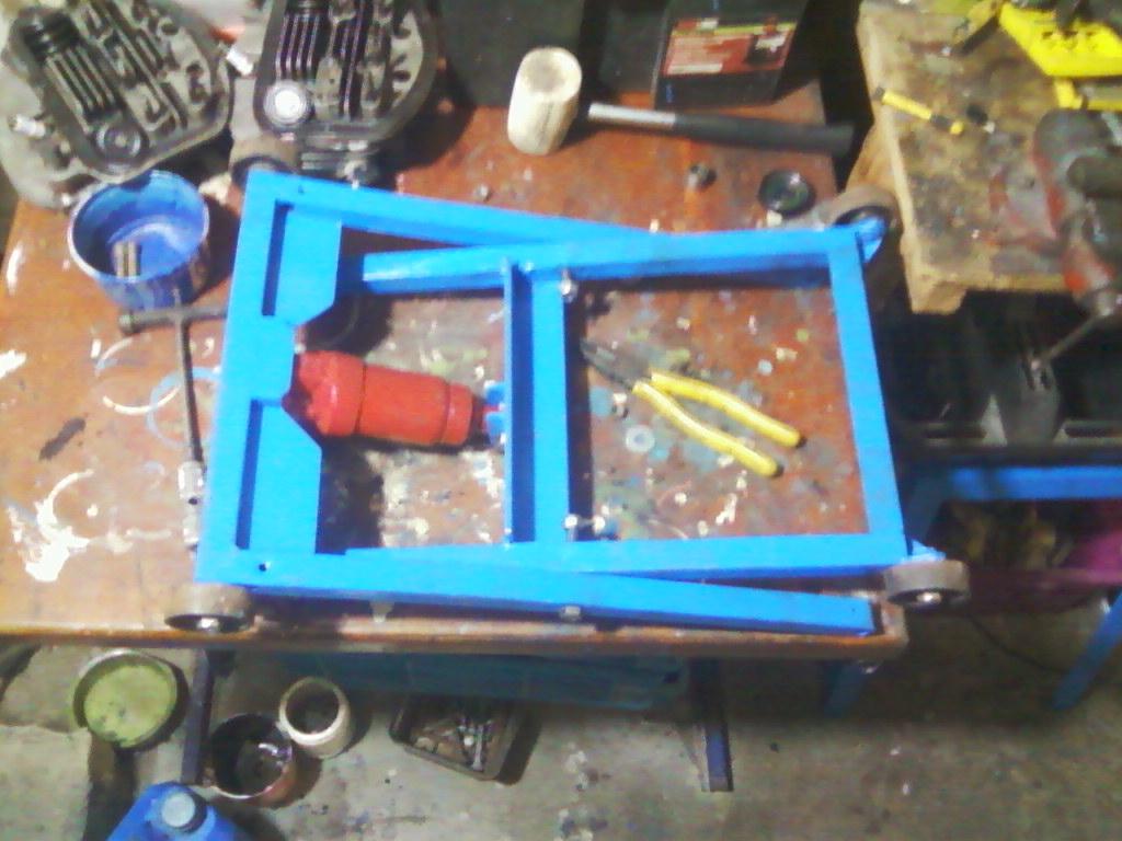 Elevador hidraúlico de tijera para motos