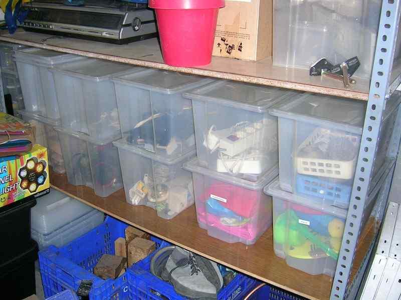 Cajas apilables y transparentes