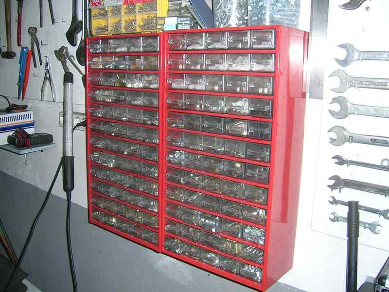 Organización de la tornillería