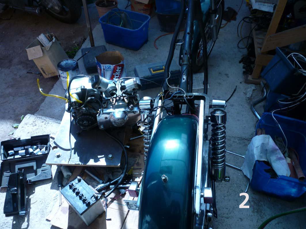Motor desmontado