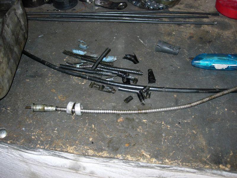 Cable deteriorado