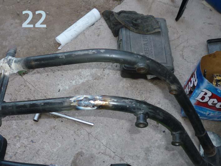 El chasis, en uno de sus soportes inferiores, tenía un gran orificio