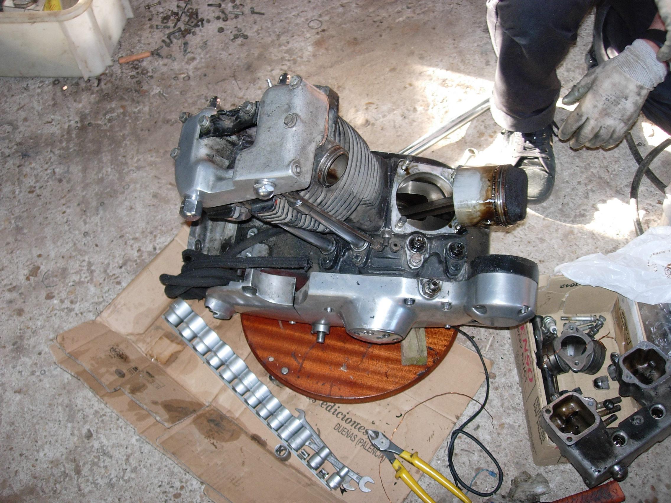 Desarmando el motor