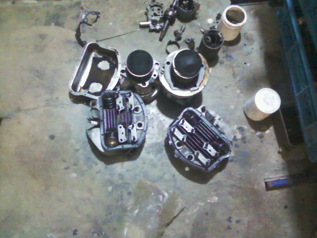 Culatas y piezas del motor