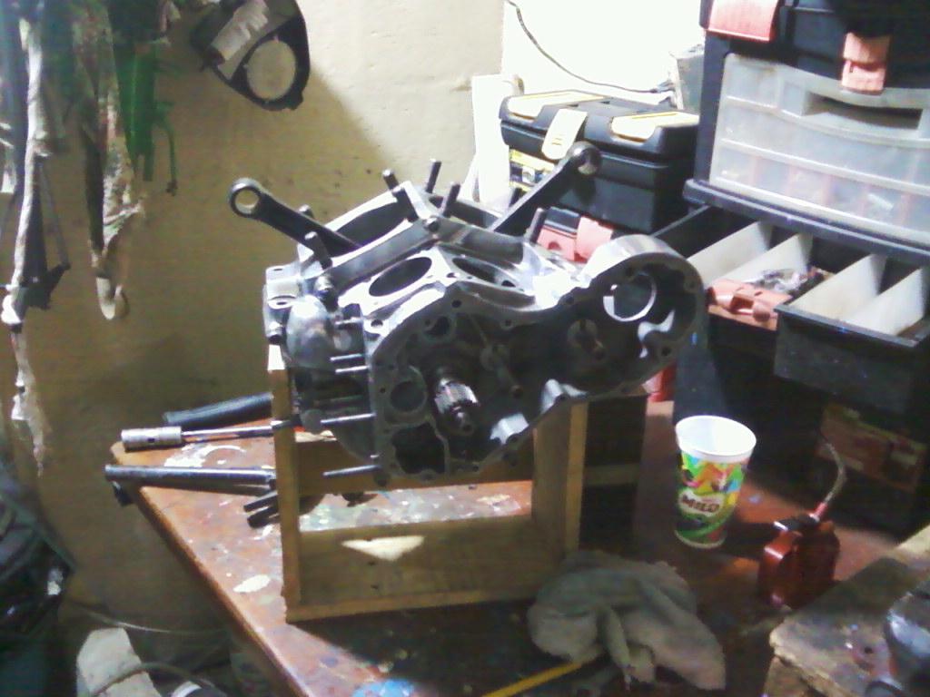 Bloques en soporte para su montaje y ajuste