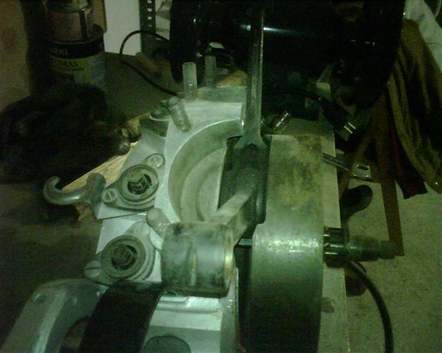 Vista superior del cárter motor