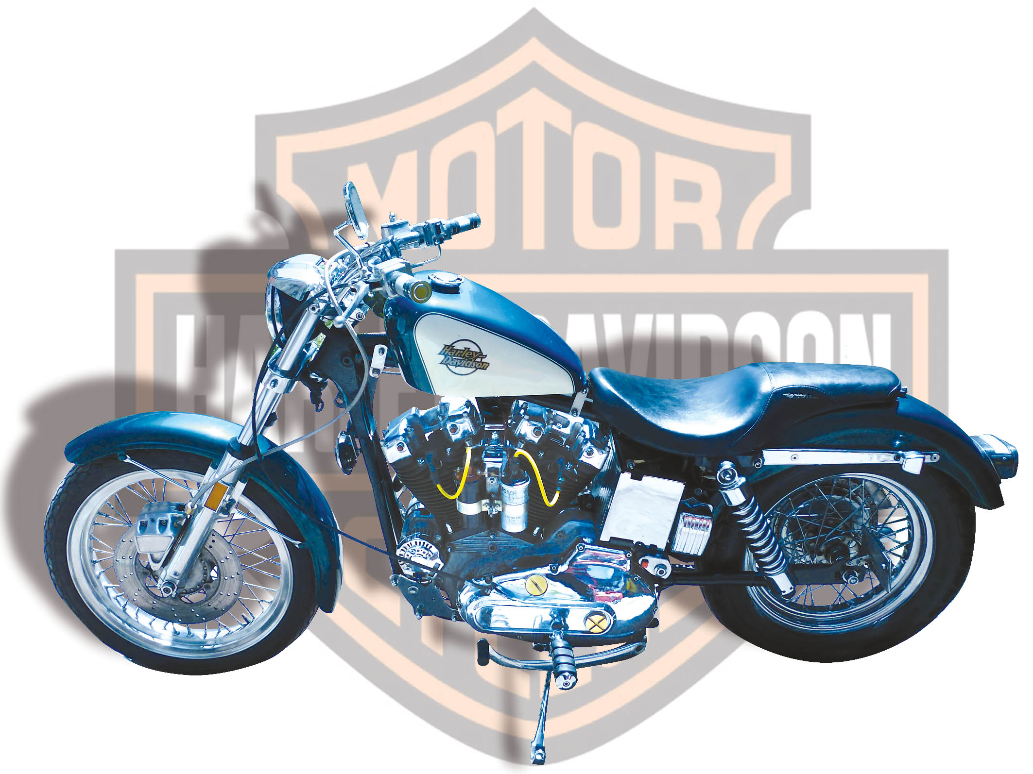 Harley-Davidson XLH Ironhead de 1975