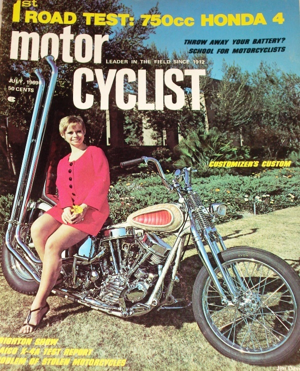 1969-jul - MotorCyclist - Panhead chopper
