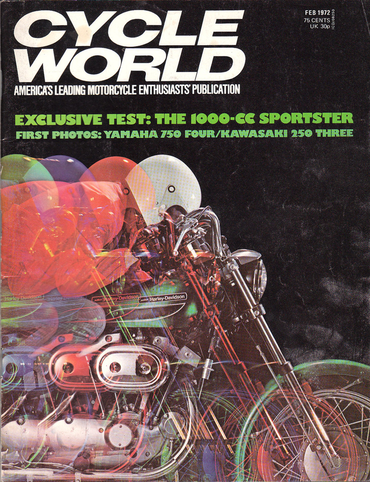 1972-feb - Cycle World - CC Sportster