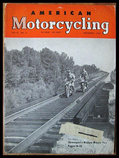 American Motorcycling - Nov-1952