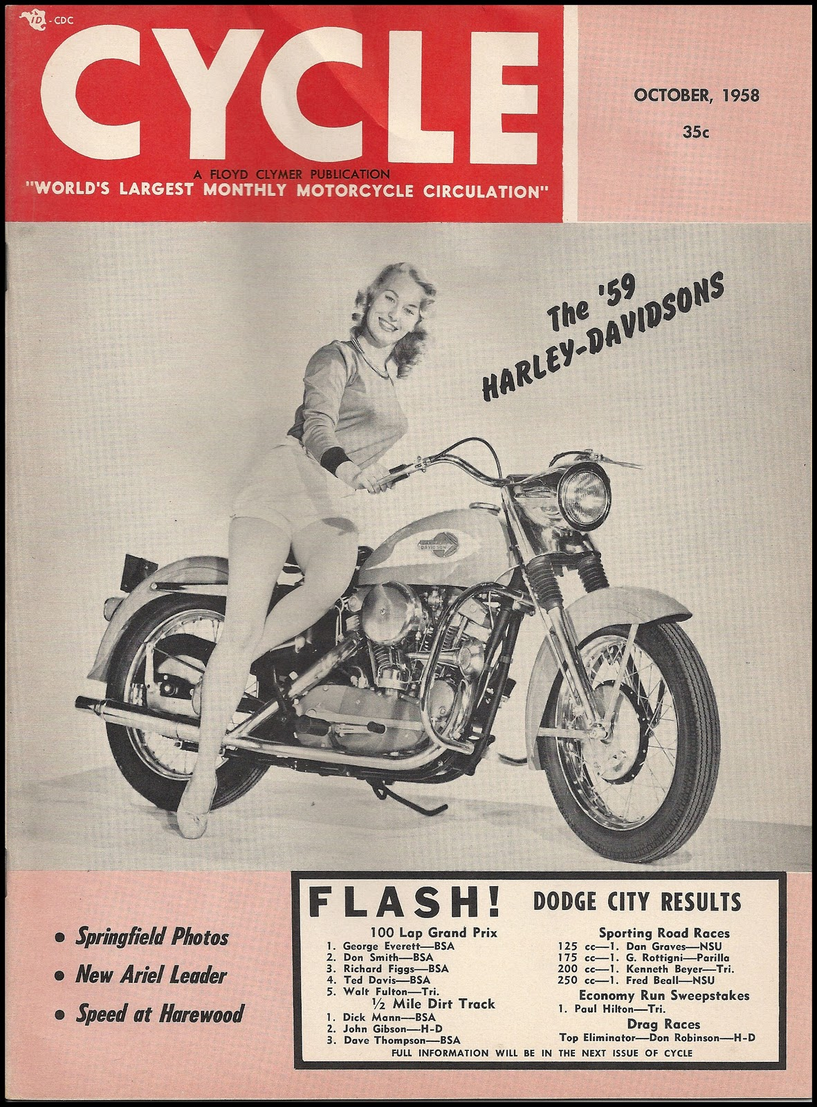 1958-oct - Cycle - Sportster