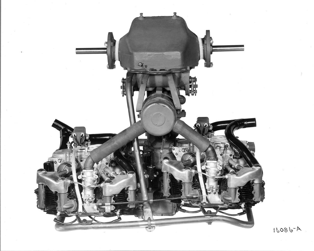 Vista posterior del doble motor