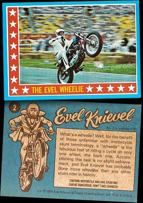 Cromos Evel Knievel