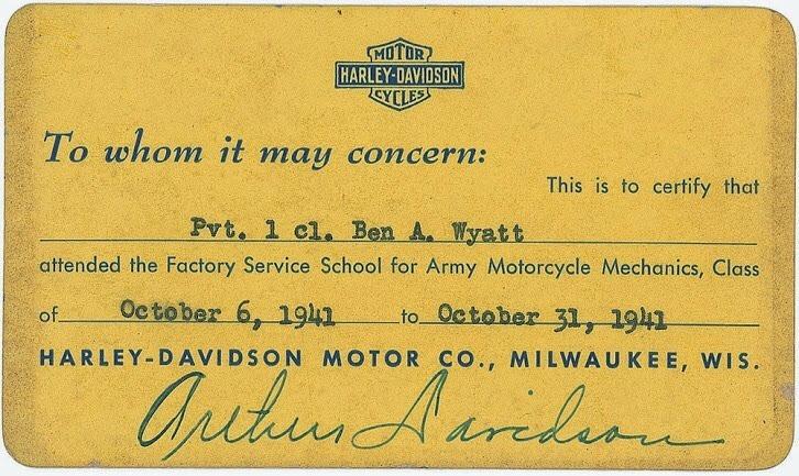 Certificación de estudios - 1941
