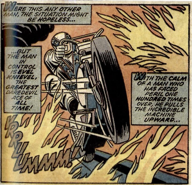 Comic de Evel Knievel