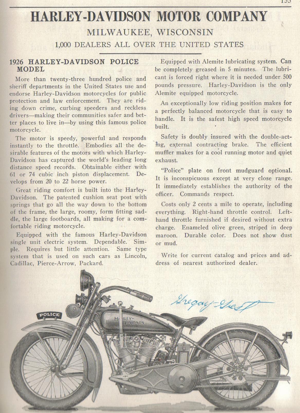 Folleto de la serie J para la policía - 1926