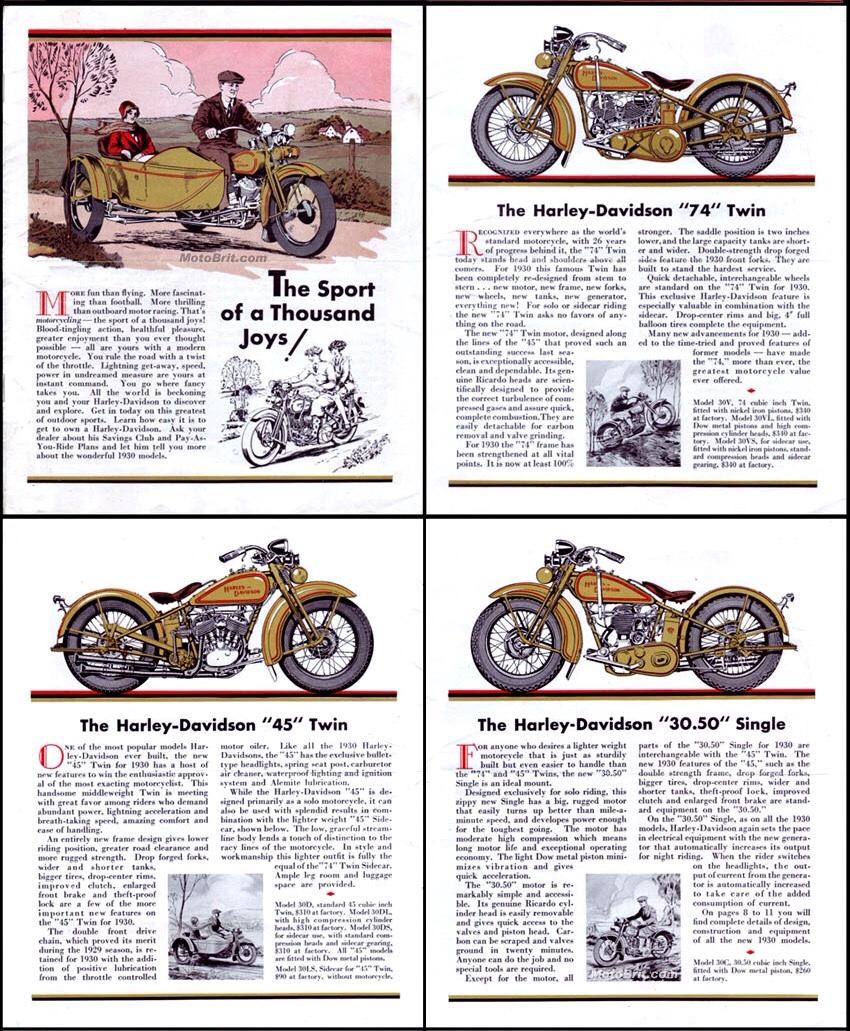 Folleto 1930 - Los 4 modelos