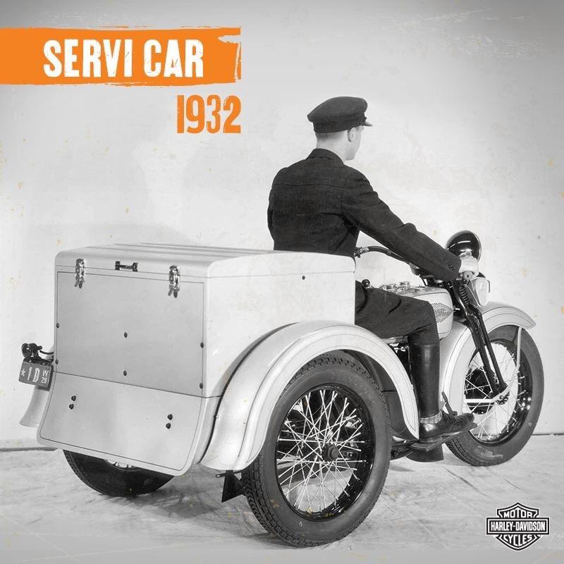 Primer Servi-Car fabricado por Harley-Davidson