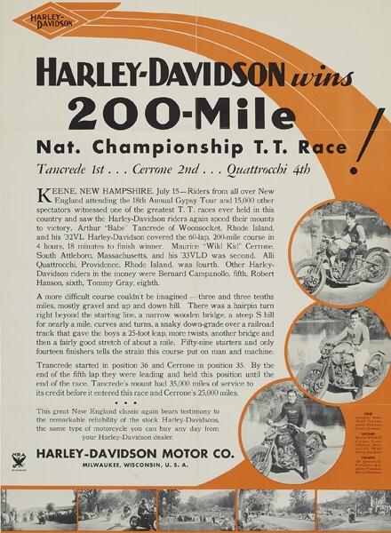 Harley-Davidson gana las 200 Millas