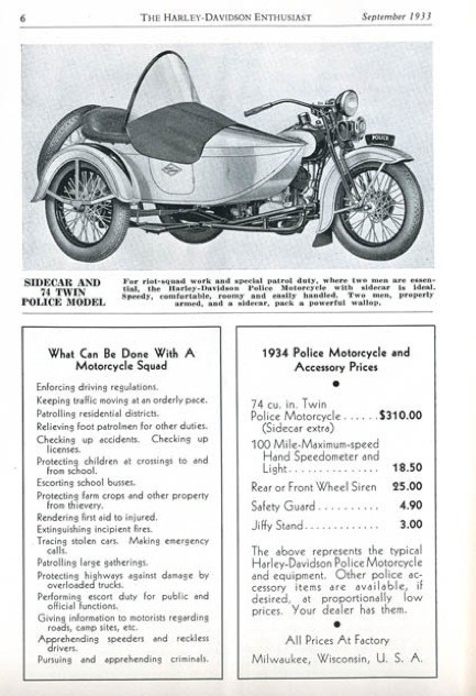 Sidecar and 74 Twin Police Model