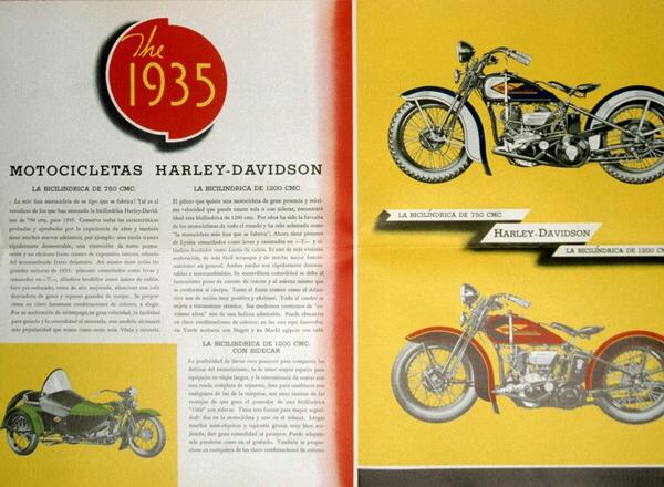 1935 Motocicletas Harley-Davidson