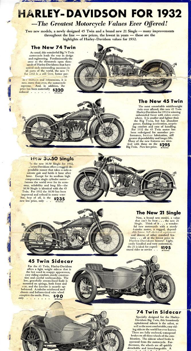 Folleto con modelos de 1932