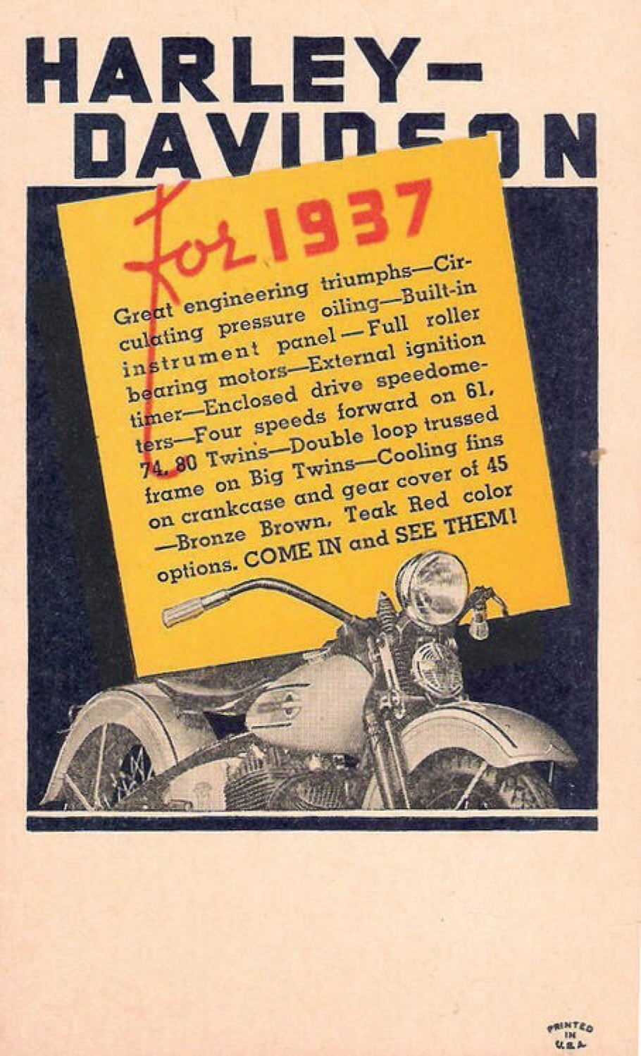 Harley-Davidson for 1937 - 01
