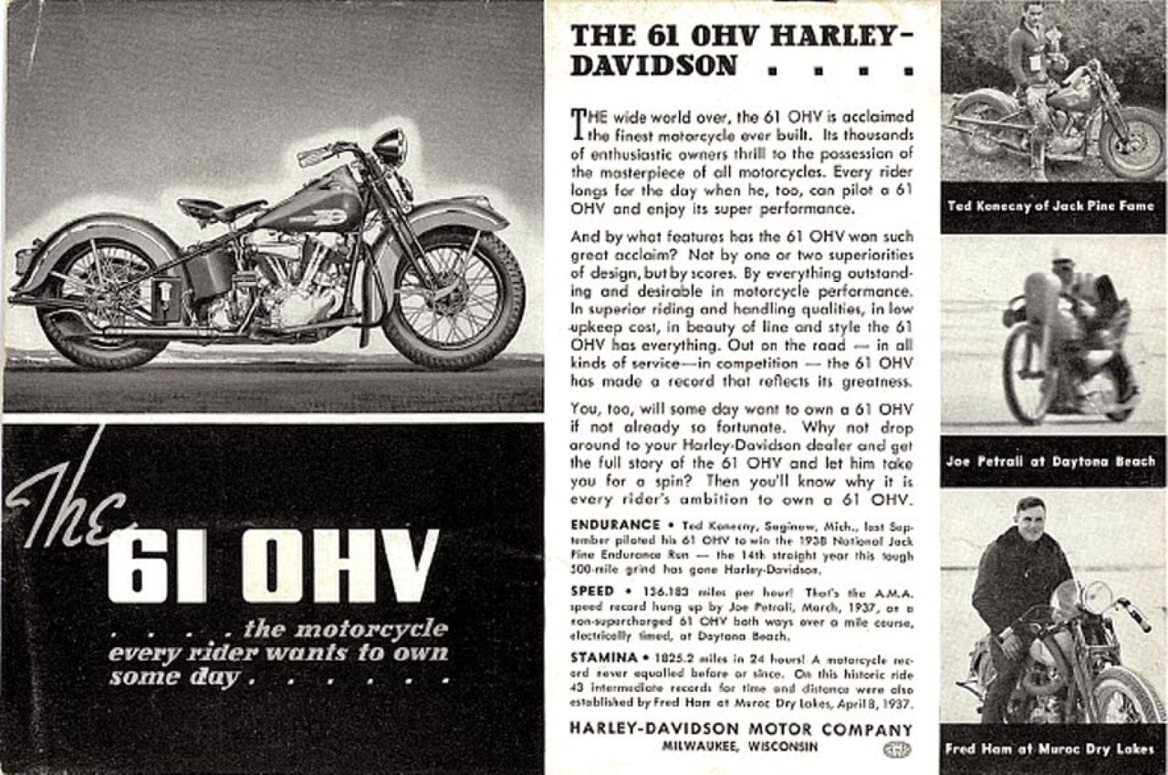 The 61 OHV Harley-Davidson