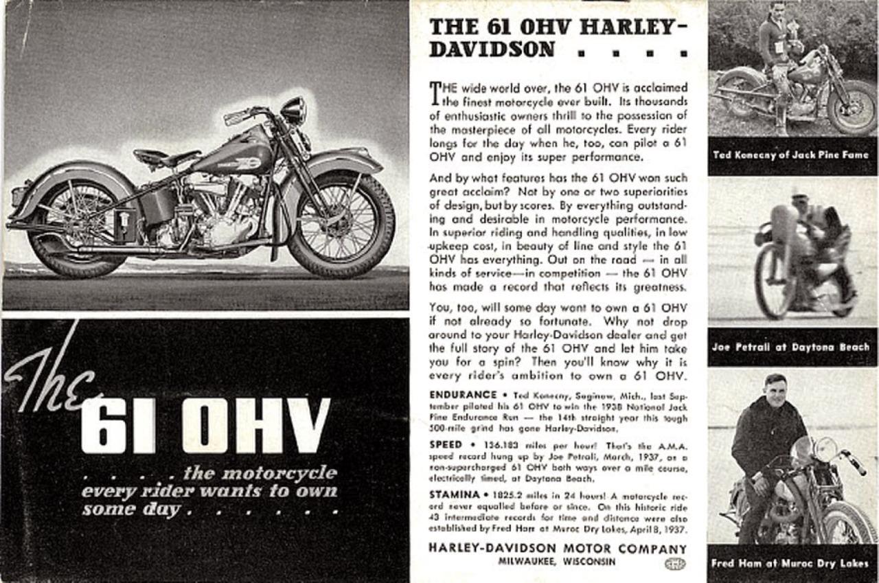 The 61 OHV Harley-Davidson