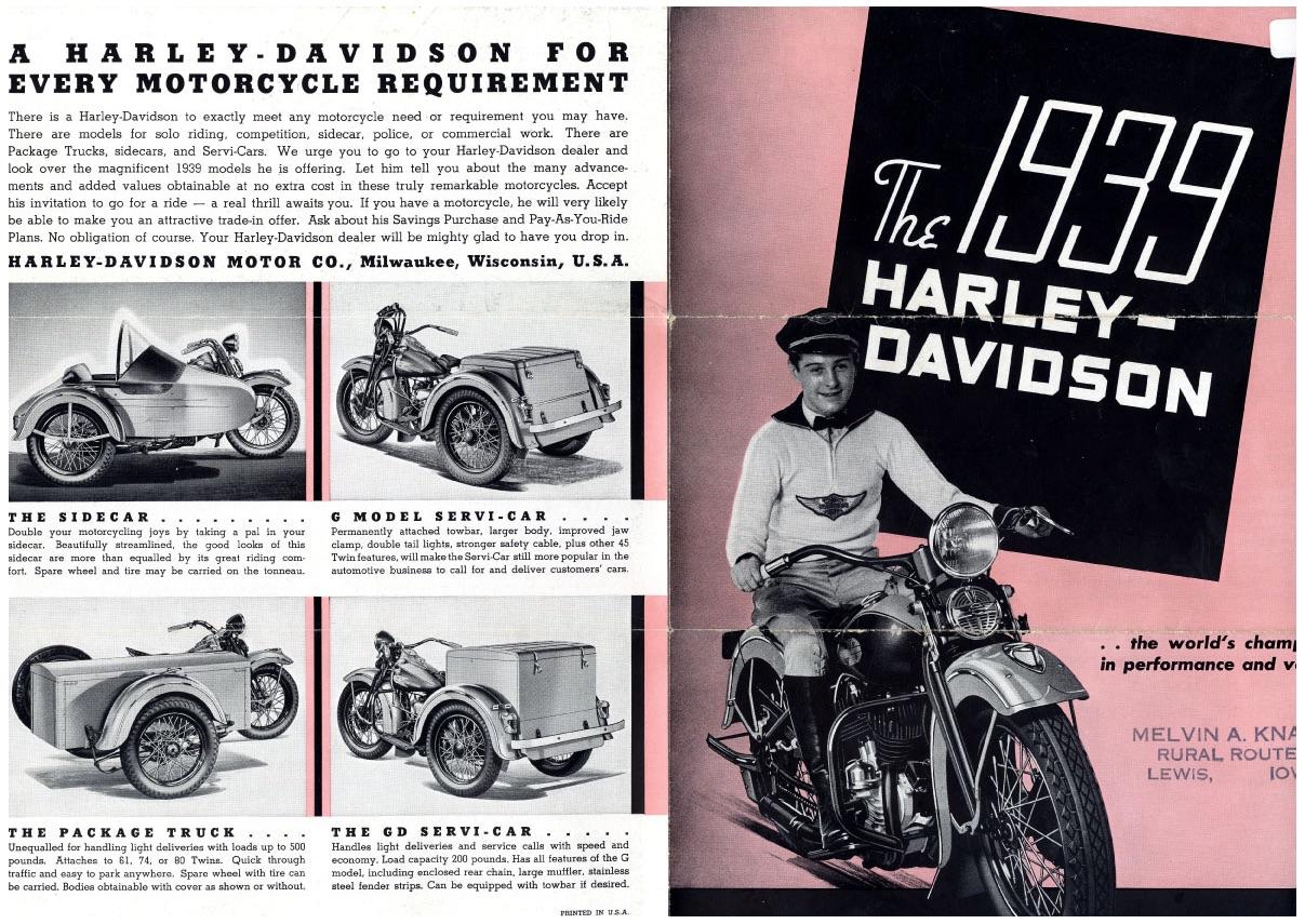 The 1939 Harley-Davidson