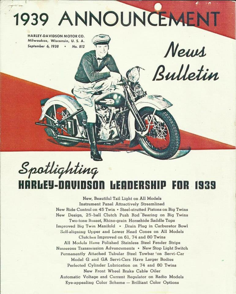 1939 Announcement
