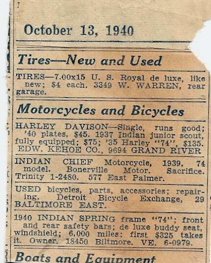 Curioso anuncio de venta de 1940