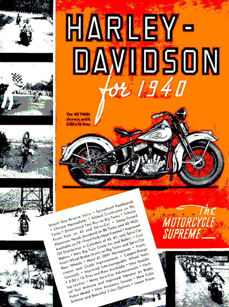 Harley-Davidson for 1940