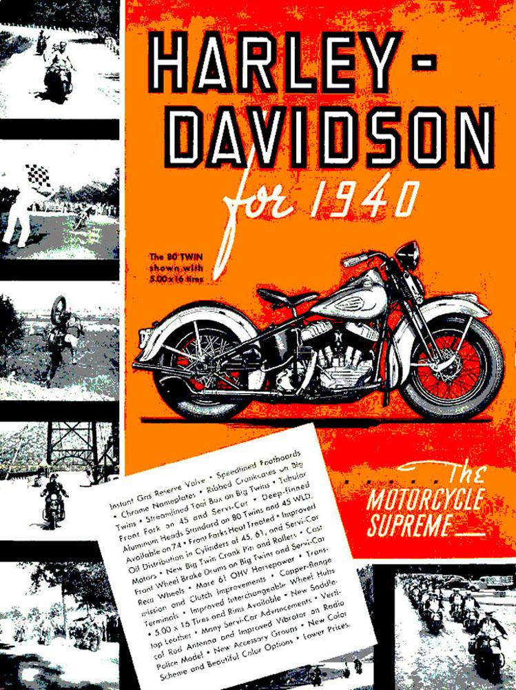 Harley-Davidson for 1940