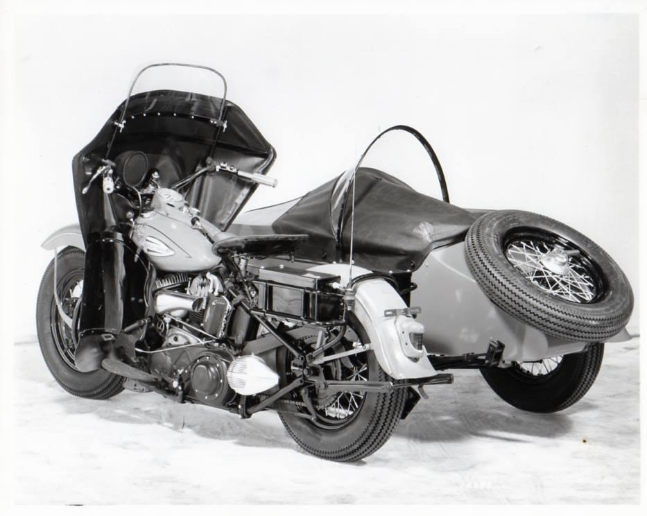 Motocicleta de policía con sidecar