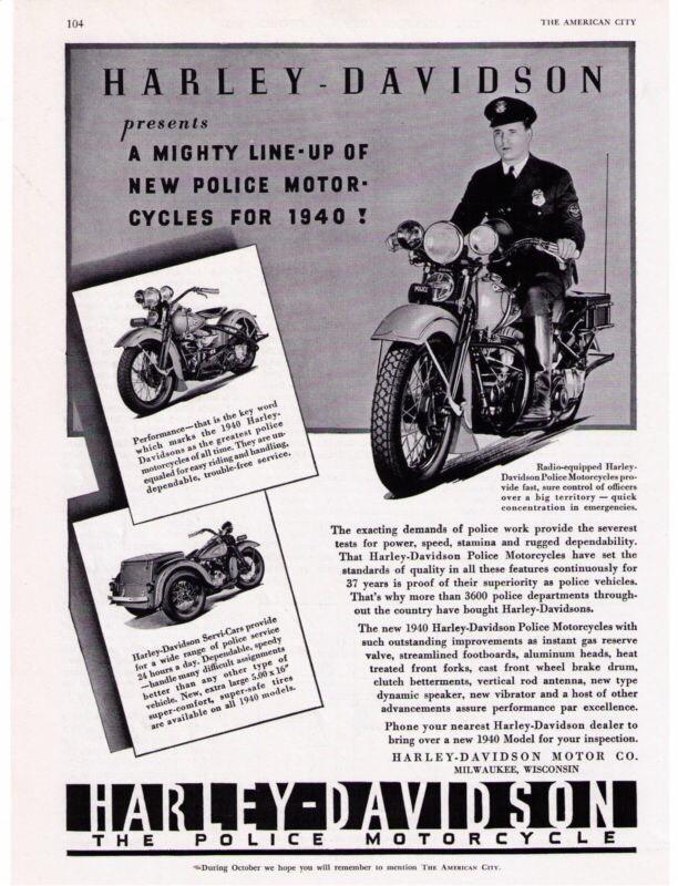 Folleto modelos policía año 1940
