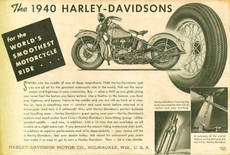 The 1940 Harley-Davidson