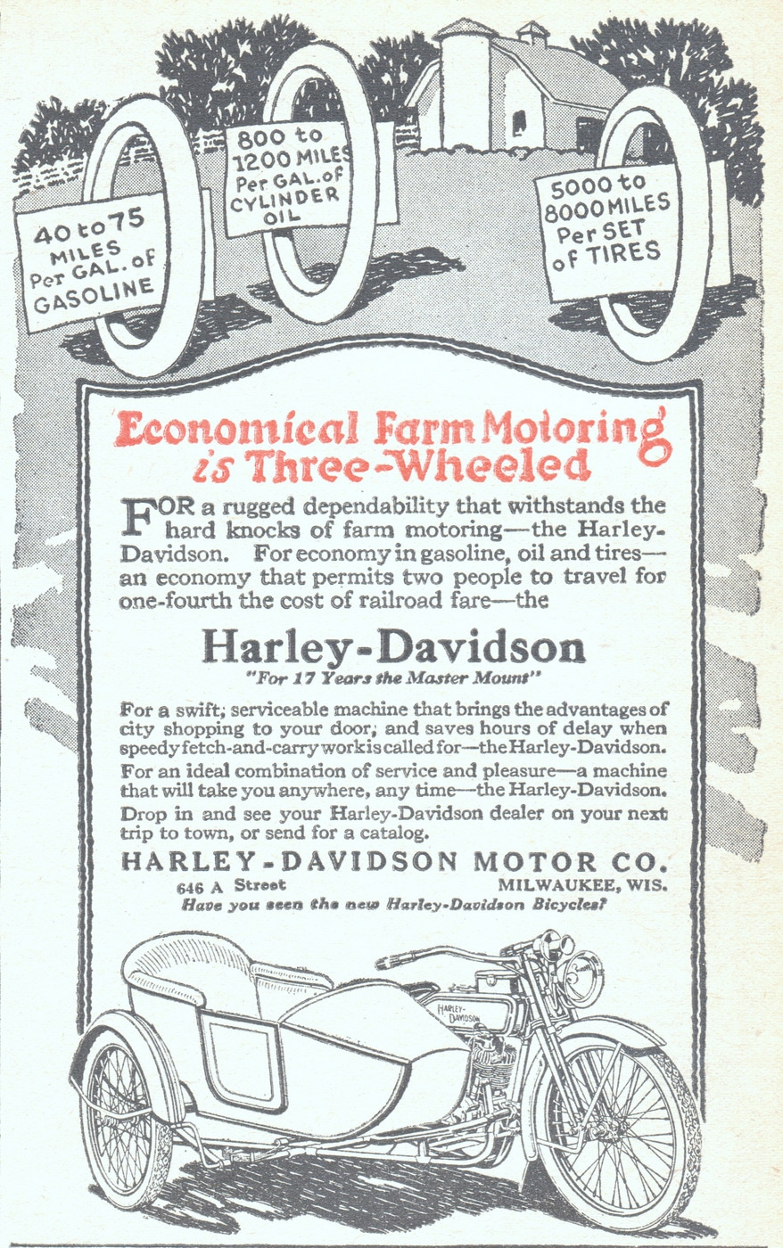 Harley-Davidson With Side Car