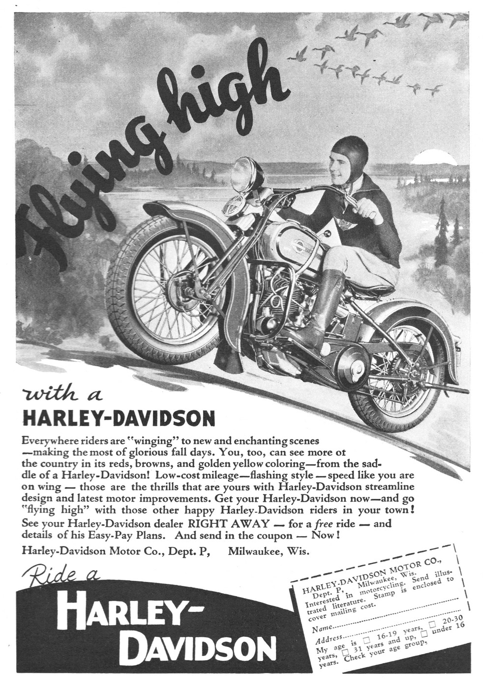 Flying High With A Harley-Davidson