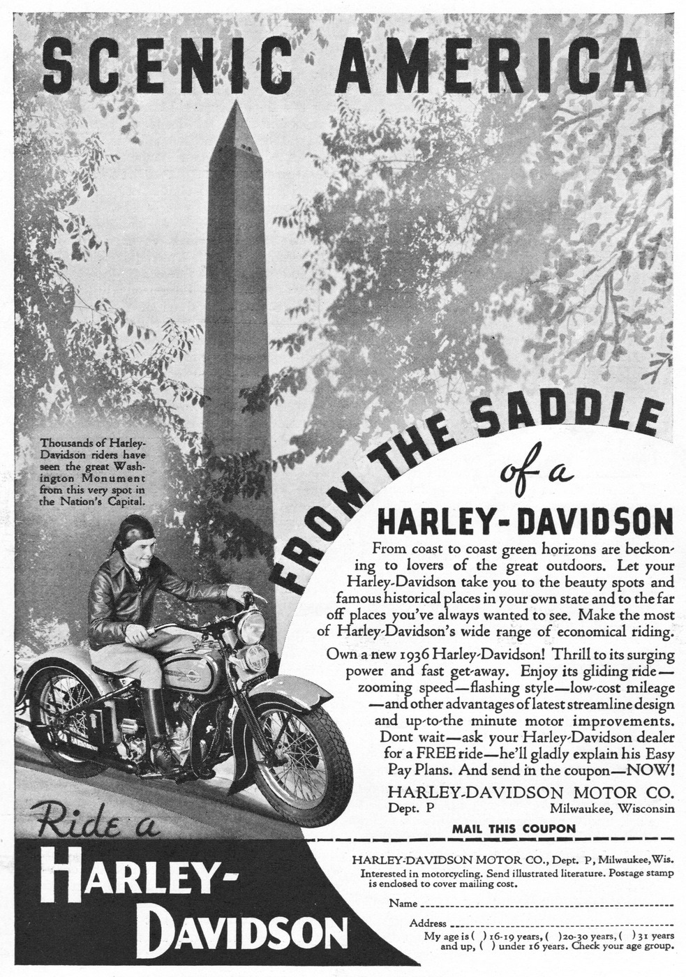 Harley-Davidson at Washington Monument