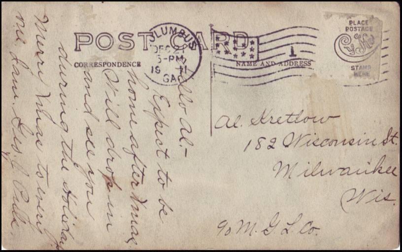 Tarjeta postal - reverso